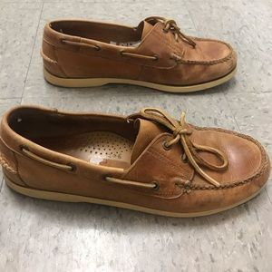 L.L. Bean Leather Loafer Boat Shoes Size 11